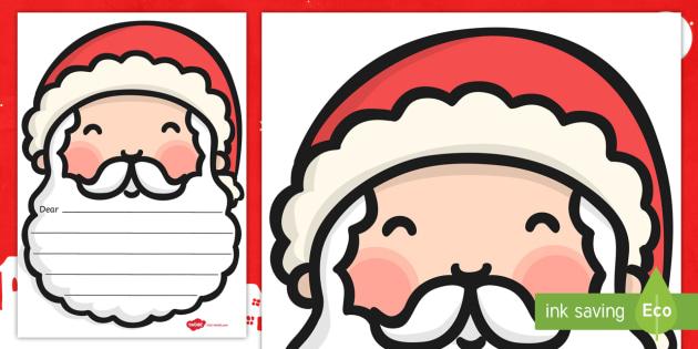 Letters to Santa Templates - santa, christmas, letters