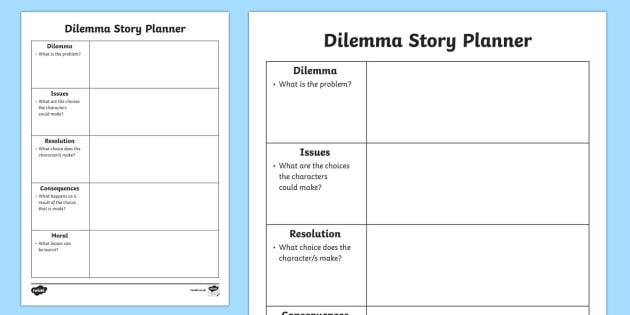 Dilemma Story Planner - dilemma story planner, dilemma, story