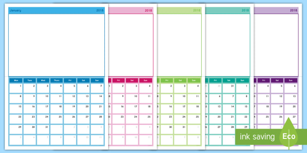 2018 Class Photo Display Calendar - Photograph,, academic year - Calendar Class