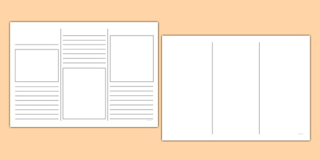 Blank Leaflet Template - KS1 Resource