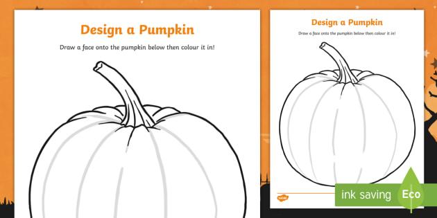 Design a Pumpkin Carving Worksheet - Halloween, pumpkin , witch, bat