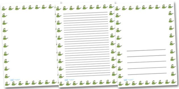 Snake Portrait Page Borders- Portrait Page Borders - Page - paper border templates
