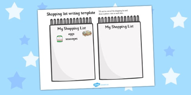 Shopping List Template - templates, shops, lists, organised - shopping lists