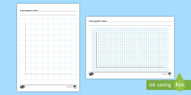 Line Graph Template Worksheet / Activity Sheet - handling data - line graphs template
