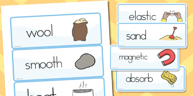 Materials Vocab Cards - australia, materials, vocabulary, cards - vocab cards