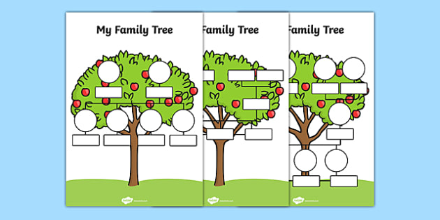 FREE! - My Family Tree Worksheets - Family Tree Template