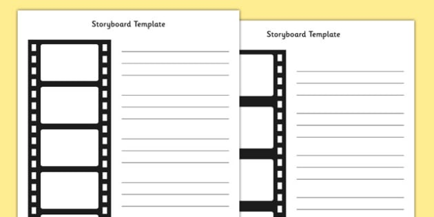 Editable Film Strip Storyboard Template