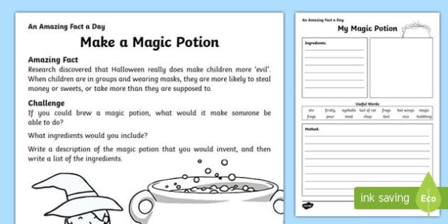 Make A Magic Potion Worksheet Activity Sheet Worksheet