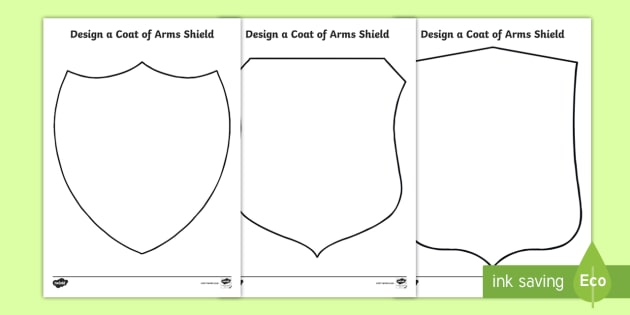 Make Your Own Coat Of Arms Template - Costumepartyrun