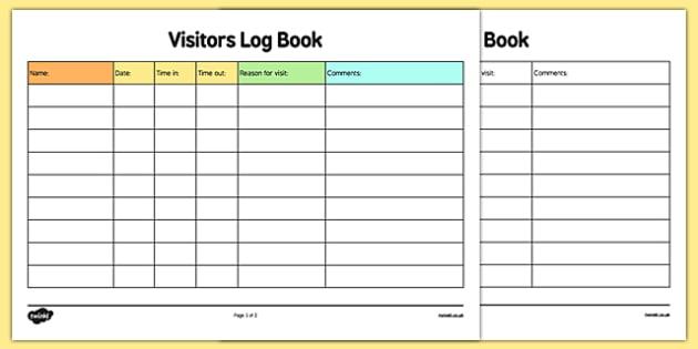 visitors log - Ozilalmanoof