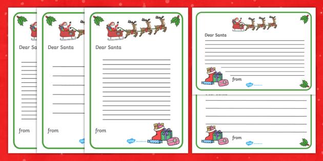Letter to Santa - letter to santa, santa letter example, santa letter