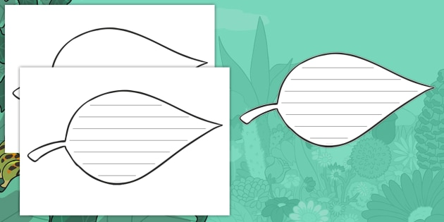 NEW * Leaf Writing Template - Writing template, writing - leaf template