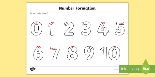 Number Formation Worksheet / Activity Sheet - Number formation - Numbers In Writing