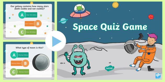 Space Quiz Multiple Choice Game PowerPoint - powerpoint, power point
