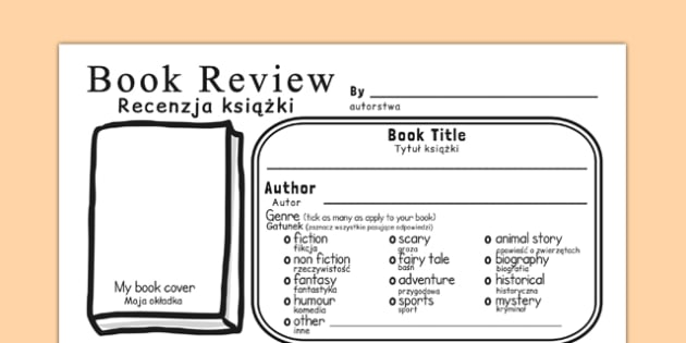 In Depth Book Review Template Polish Translation - polish