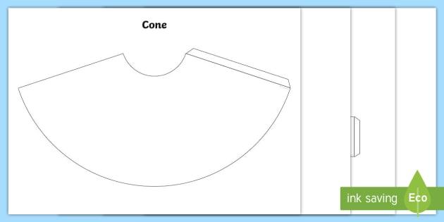 3D Shape Nets KS1 Worksheet / Worksheets - cube, cuboid, cone