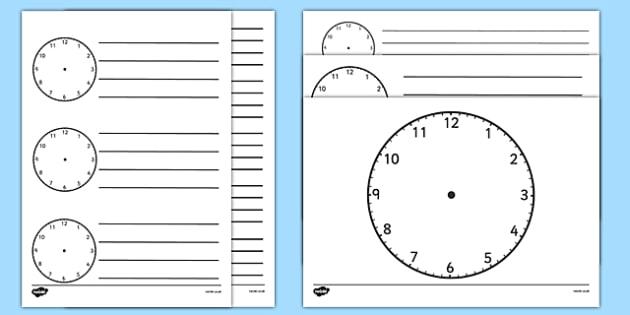 Blank Clock Templates - blank clock templates, blank clock - clock templates