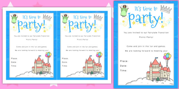 Editable Invitation Template Ks1 Fairytale Themed Picnic And Party Invitation - Invitation