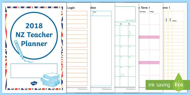 2018 New Zealand Teacher Planner Diary - planning, new zealand