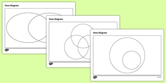 KS2 Venn Diagram Template Pack - Primary Resources