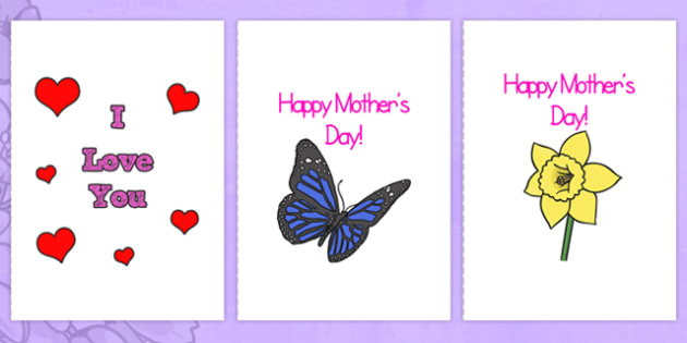 Mother\u0027s Day Card Full A4 Page Templates - Mother\u0027s day, mum
