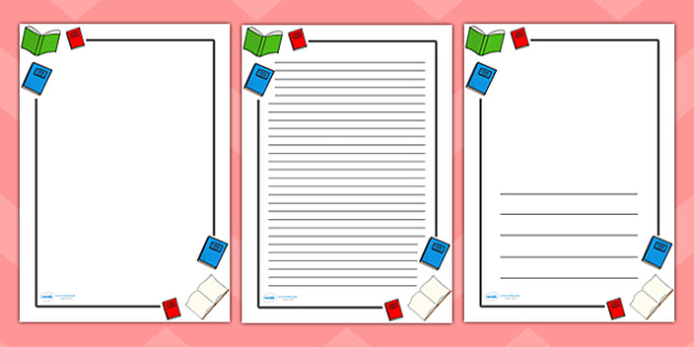 Literacy Page Borders - Literacy, writing, page border, a4 - printable writing paper with border
