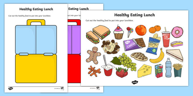 Healthy Eating Lunch Activity - healthy, healty eating, sort, activity