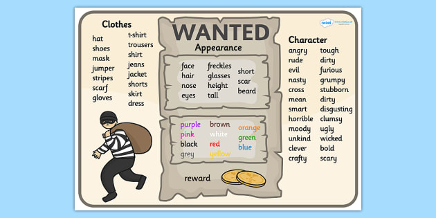 Wanted Poster Word Mat - wanted poster, poster, word mat