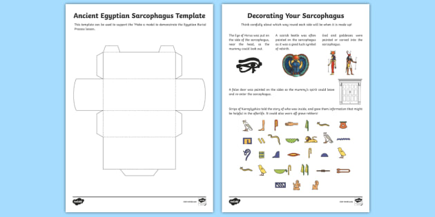 Make Your Own 3d Sarcophagus Template - ancient egypt, crafts