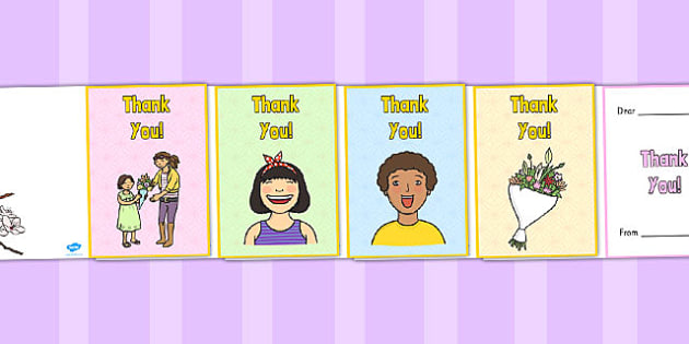 Thank You Card - make your own thank you card, card, making - make your own thank you cards
