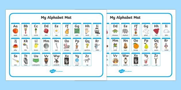 FREE! - A-Z Alphabet Mat (Upper  Lowercase) - Alphabet Mat, DfES