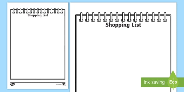 Shopping Lists Early Years (EYFS), page borders