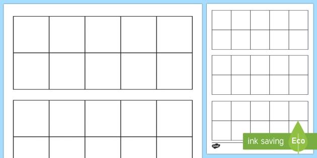 Blank Ten-Frame Worksheet / Activity Sheet - Ten frame, place - ten frame template