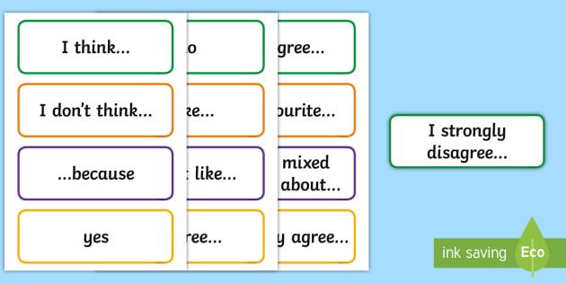 Informal/Formal Debate Language Word Cards - English, New, Language