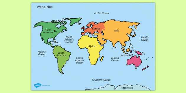 Editable World Map with Names