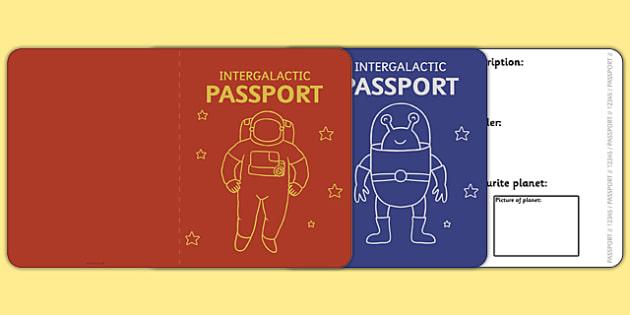 Space Passport Template - Passport, space, intergalactic - passport template