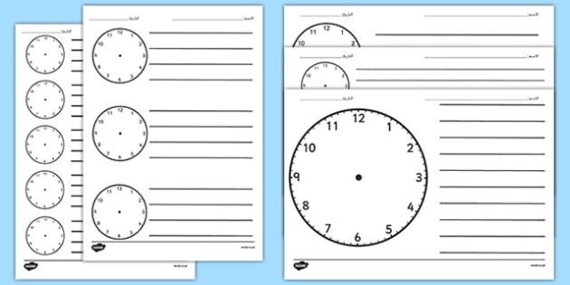 نموذج ساعة فارغ - الوقت، الزمن، - clock templates