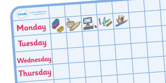 Editable Mini Nursery \/ Foundation Stage 1 Visual Timetable - daily timetable