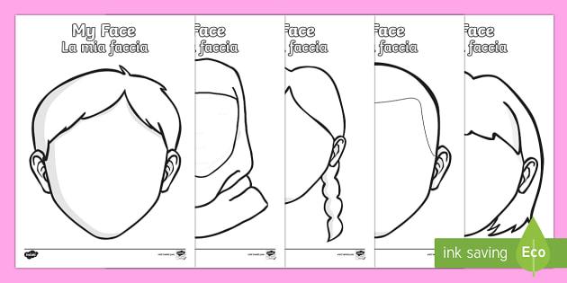 Blank Faces Templates English/Italian - Blank Faces Templates - face