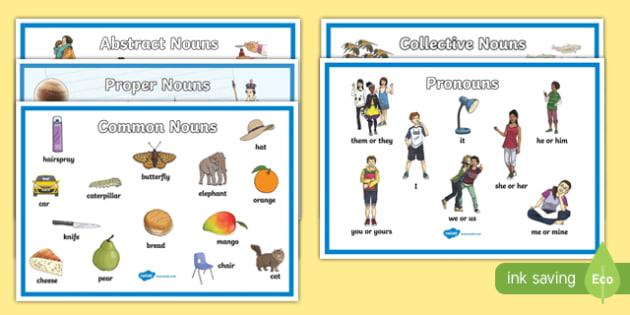Noun Display Poster Pack - noun, display posters, display