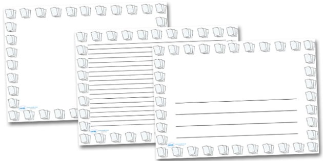 Lined Paper Landscape Page Borders- Landscape Page Borders - printable writing paper with border