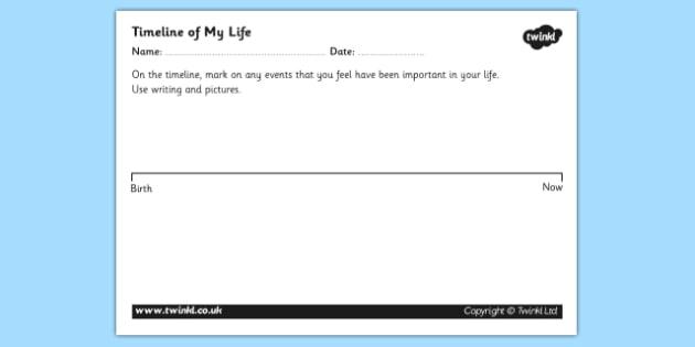 Personal Timeline Worksheets - personal timeline, timeline worksheet, my
