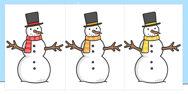 Editable Snowmen - snowman, winter, editable template