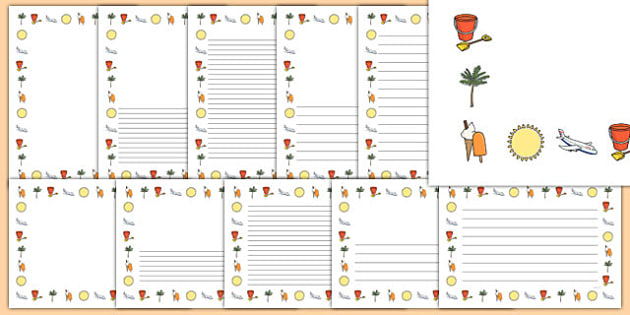 FREE! - My School Holiday Page Borders - my school holiday page