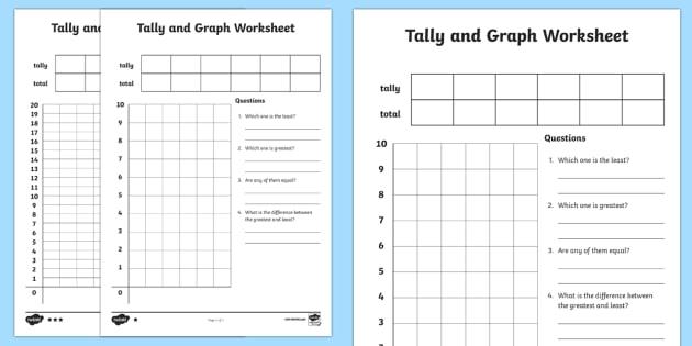 Tally Graphs Worksheet / Activity Sheet Template - tally - line graphs template
