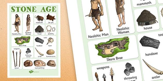The Stone Age Vocabulary Mat Stone Age Vocab Keywords Ks2