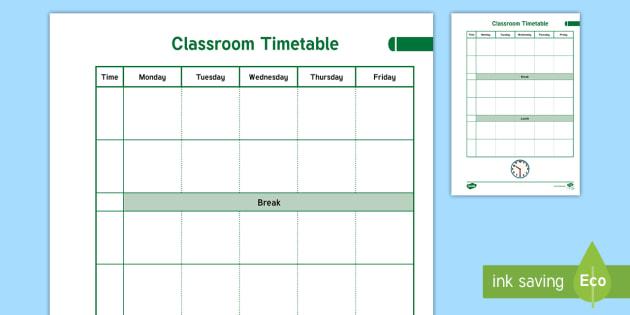 NEW * Teacher Planner Classroom Timetable Overview - teacher