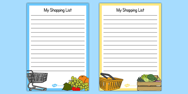Fruit And Veg Shop Role Play Shopping Lists - Fruit and - shopping lists