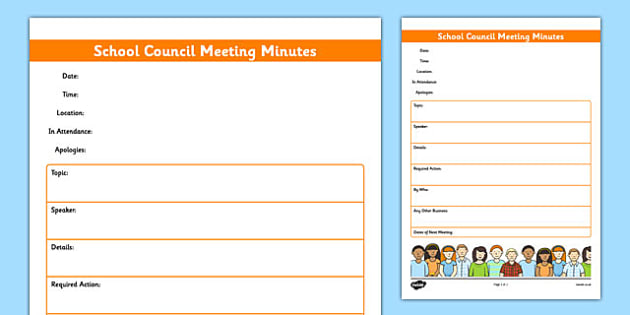 School Council Meeting Minutes Template - school council - meeting minutes