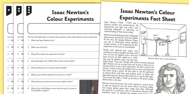 Beautiful Worksheet Activity Sheet Isaac Newton Differentiated ...